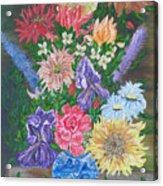Flemish Floral Acrylic Print