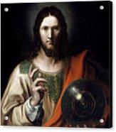 Flemish Salvator Mundi Acrylic Print