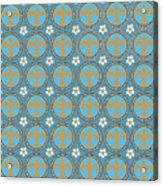 Fleur De Lis Pattern No. 2 Acrylic Print