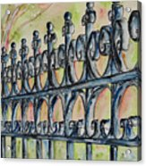 Fleur De Lisrod Iron Fence Acrylic Print