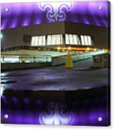 Fleur Di Lis Reflected Acrylic Print by Pixel Perfect by Michael Moore