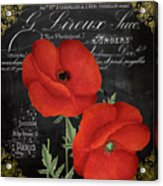 Fleur Du Jour Poppy Acrylic Print