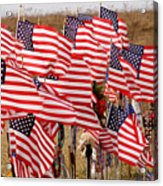 Flight 93 Flags Acrylic Print