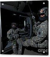 Flight Medics Practice With The Uh-60 Acrylic Print
