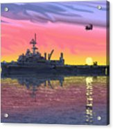Flight Ops At Sunset Acrylic Print