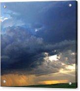 Flint Hills Storm Panorama 2 Acrylic Print