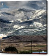 Flint Ridge Range, Deer Lodge, Mt Acrylic Print
