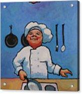 Flipping Pancakes Acrylic Print