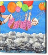 Floating Above Storm Clouds Acrylic Print