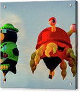 Floating Aerial Photographer And The Smiling Crab Acrylic Print