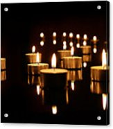 Floating Candles Acrylic Print