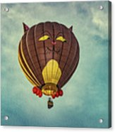 Floating Cat - Hot Air Balloon Acrylic Print