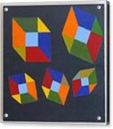 Floating Cubes 2 Acrylic Print