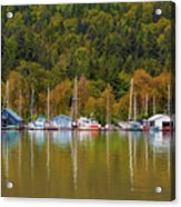 Floating Homes Along Multnomah Channel In Portland Oregon Acrylic Print