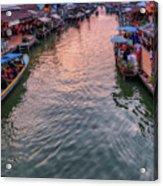 Floating Market Sunset Acrylic Print