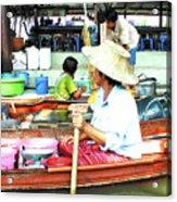 Floating Market Thailand Acrylic Print