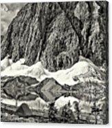Floe Lake Sepia Acrylic Print