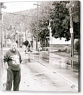 Flooded Streets Of Despair Acrylic Print