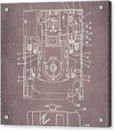 Floppy Disk Assembly Patent Drawing 1a Acrylic Print