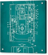 Floppy Disk Assembly Patent Drawing 1c Acrylic Print