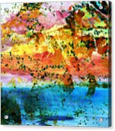 Rustic Landscape Abstract  D2131716 Acrylic Print