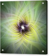 Floral Abstract Square Acrylic Print
