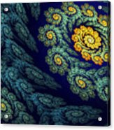 Floral Abyss Acrylic Print