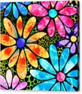 Floral Art - Big Flower Love - Sharon Cummings Acrylic Print