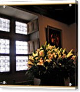 Floral At Chenonceau Acrylic Print