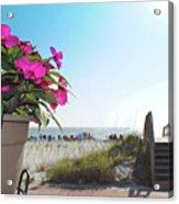 Floral Beach Acrylic Print