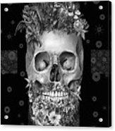 Floral Beard Skull 3 Acrylic Print