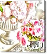 Floral Bouquets Pink Roses  Acrylic Print