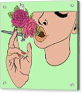 Floral Emission Acrylic Print