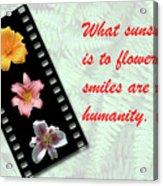 Floral Filmstrip Acrylic Print by Bill Barber