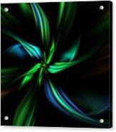 Floral Fractal 040710 Acrylic Print