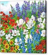 Floral Fusion Acrylic Print