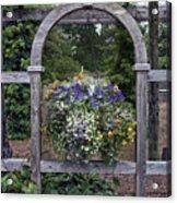 Floral Garden View Acrylic Print