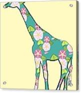 Floral Giraffe Acrylic Print
