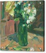 Floral Green Vase Acrylic Print