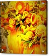 Floral In Ambiance Acrylic Print