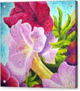 Floral In Pinks Acrylic Print