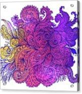 Purple Floral Indian Pattern Acrylic Print