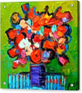 Floral Miniature - Abstract 0315 Acrylic Print