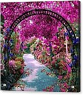 Floral Pathway Acrylic Print