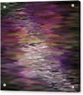 Floral Reflections Acrylic Print by Sandra Bauser Digital Art