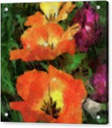 Floral Spring Tulips 2017 Pa 02 Vertical Acrylic Print