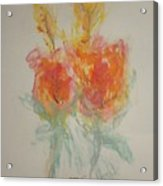 Floral Study In Pastels O Acrylic Print
