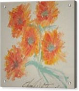 Floral Study In Pastels U Acrylic Print