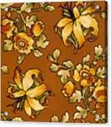 Floral Textile Design Acrylic Print