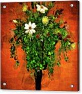 Floral Wall Arrangement Acrylic Print